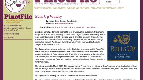 Are you kidding me? We've been featured on The PinotFile!
