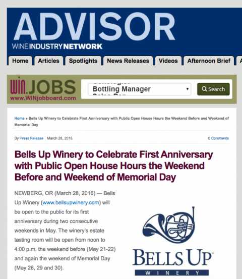 We're everywhere! Loads of media hits over the past few months for Bells Up…