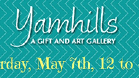 Saturday, May 7: Treat your mom to wine, retail therapy at Yamhills Gallery, featuring Bells Up wines.