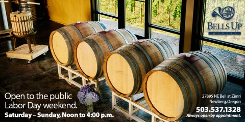 Bells Up Winery Open to Public for Labor Day Weekend, September 3–4.