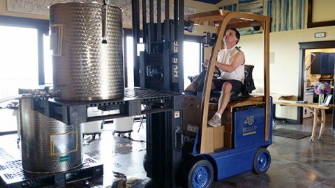 "Meet Dave's Newest Winemaking ""Toy"""