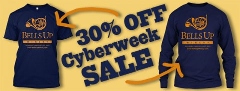Bells Up T-Shirts: 30% OFF for Cyberweek!