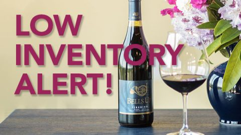 Yellow Alert! 2013 Firebird Syrah inventory has dropped under 20 cases remaining…