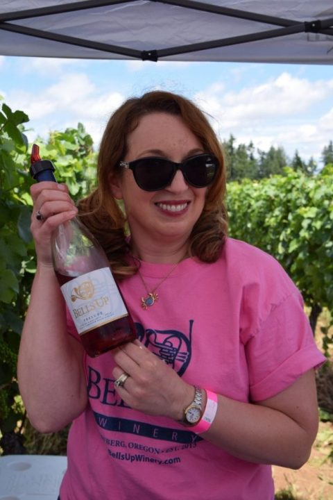 Confetti Travel Cafe Features Bells Up Winery in 2019 Drink Pink Festival Coverage
