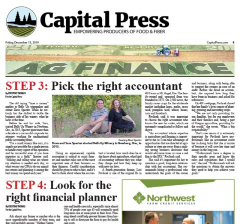 Bells Up's Dave Specter Featured In Four-Part Financial Health Series by Capital Press