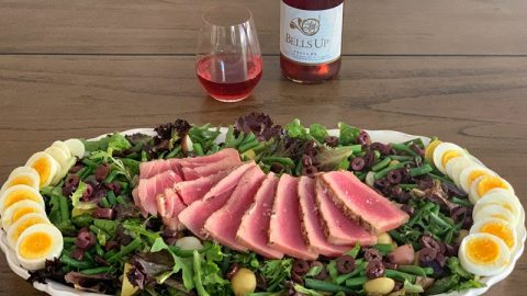 Pair Prelude Rosé with Grilled Ahi Nicoise Salad Recipe from Sips N Tips